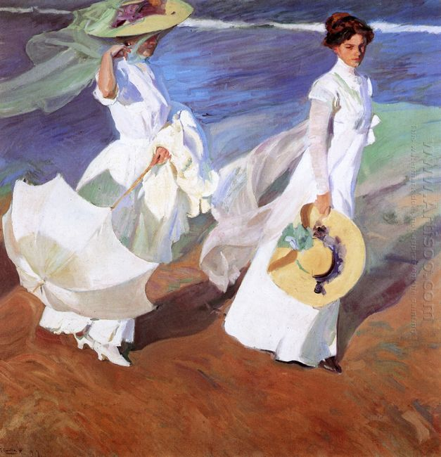 Promenade By The Sea 1909