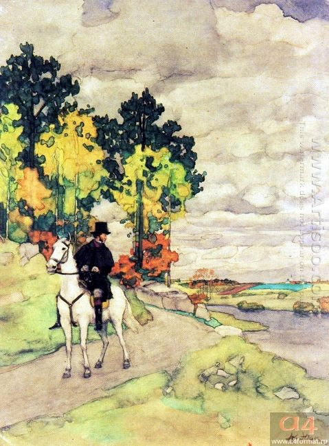 Pushkin On Horseback 1949