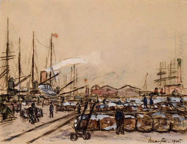 Quayside In Le Havre 1905