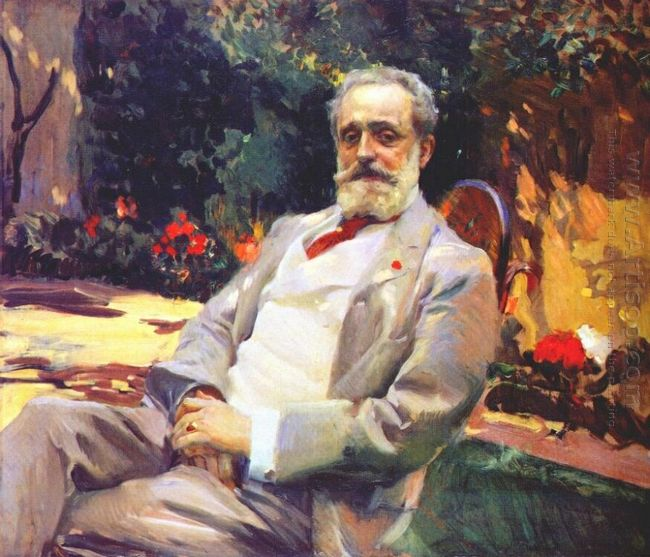 Raimundo De Madrazo In His Paris Garden 1906