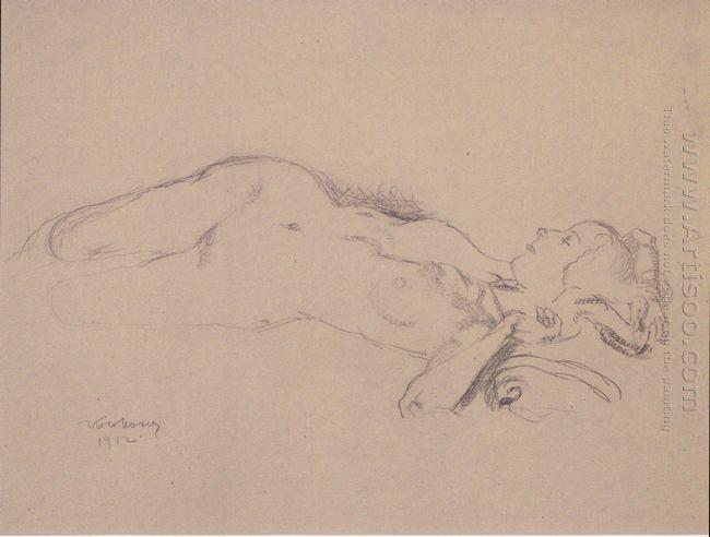 Reclining Female Nude Mileva Roller 1912