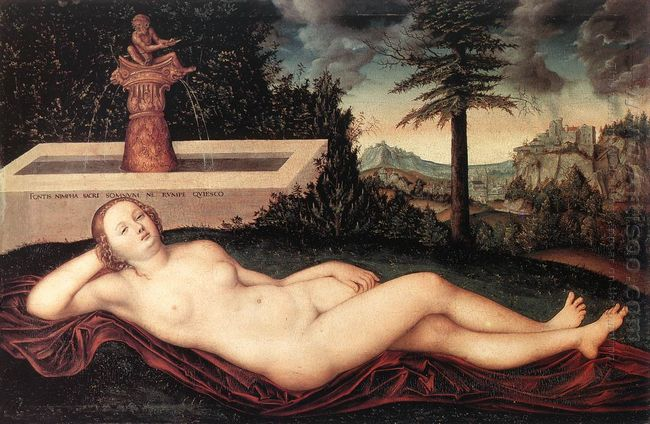 Reclining River Nymph At The Fountain 1518