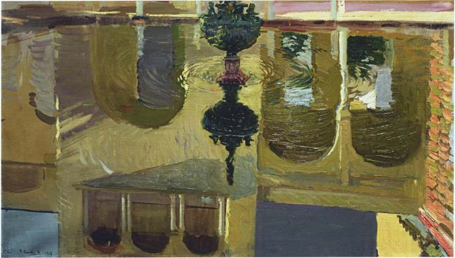 Reflections In A Fountain 1918
