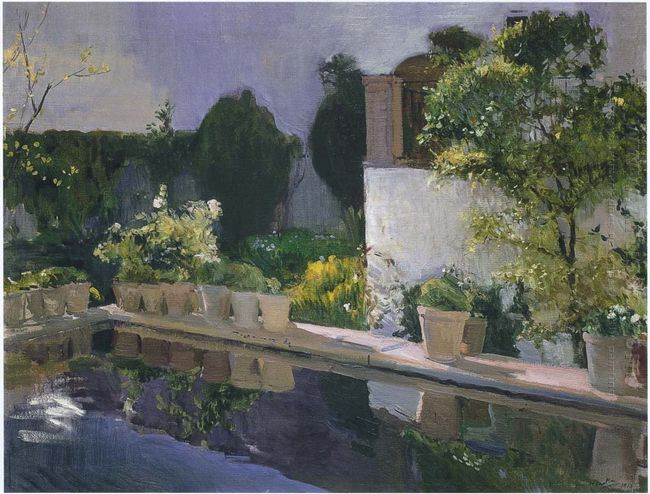 Reservoir At The Alcazin Seville 1910