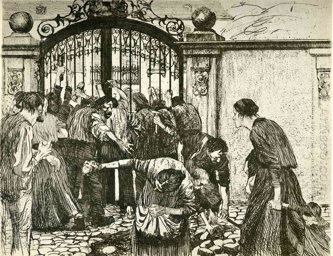 Revolt By The Gates Of A Park 1897