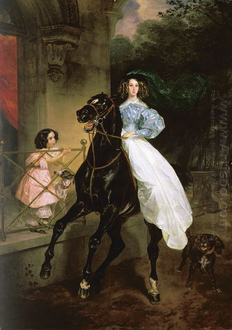 Rider Portrait Of Giovanina And Amacilia Pacini The Foster Child