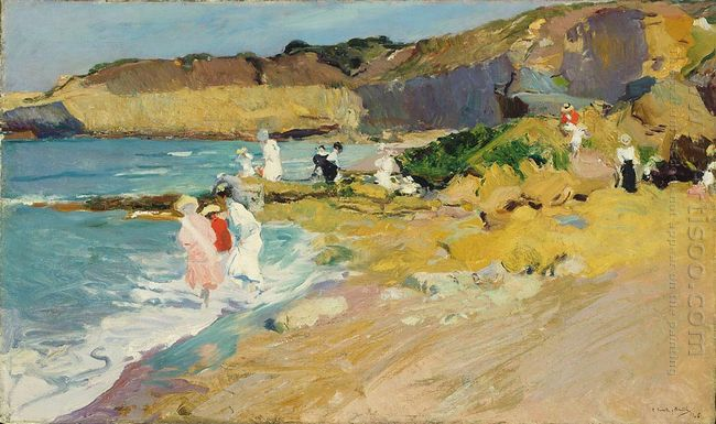 Rocks And The Lighthouse Biarritz 1906