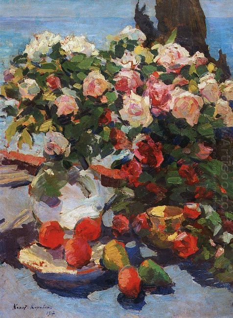 Roses And Fruit 1917
