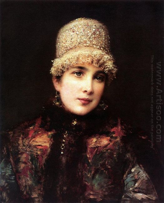 Russian Beauty In Kokoshnik
