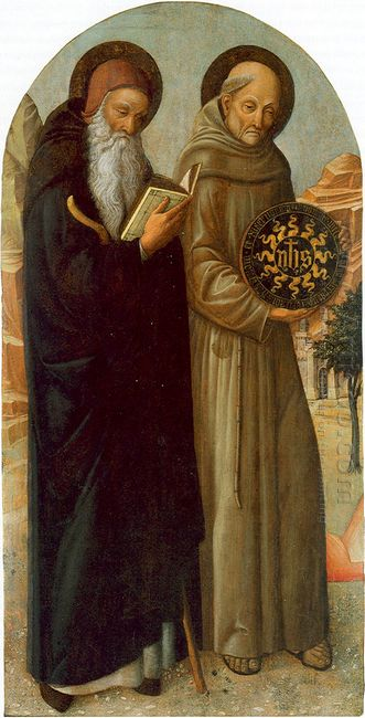 Saint Anthony Abbot And Saint Bernardino Da Siena 1460