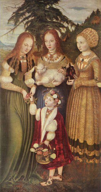 Saints Dorothea Agnes And Kunigunde 1506