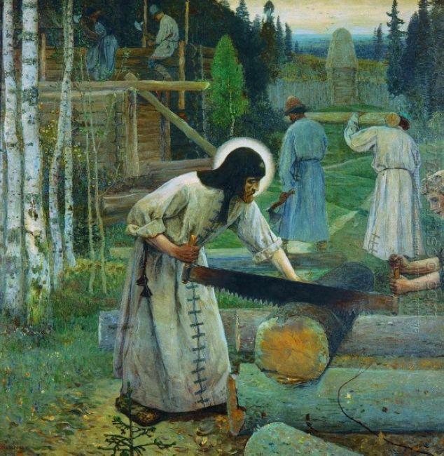 Saint Sergius Labours Central Part Of The Triptych 1896