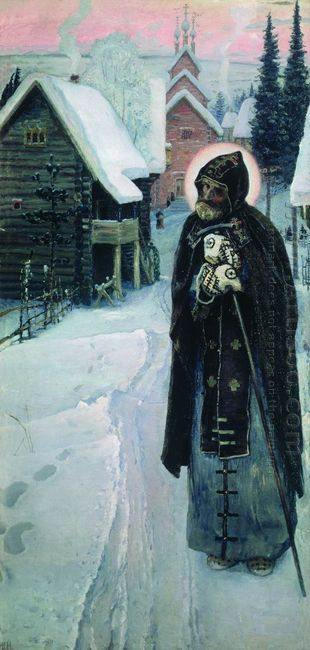 Saint Sergius Labours Right Part Of The Triptych 1896