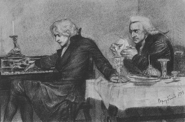 Salieri Pours Poison Into A Mozart S Glass 1884