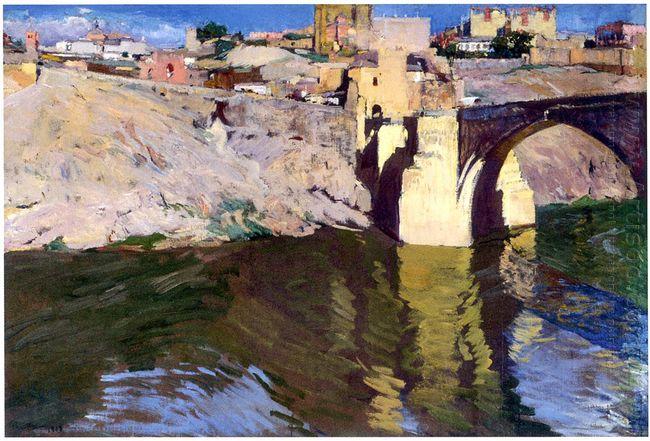 San Martin Bridge At Toledo 1906