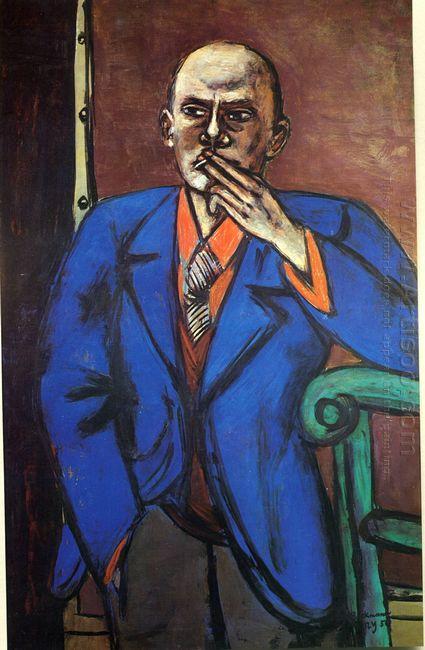 Self Portrait In Blue Jacket 1950