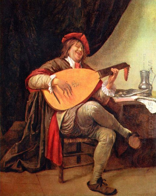 Self Portrait With A Lute