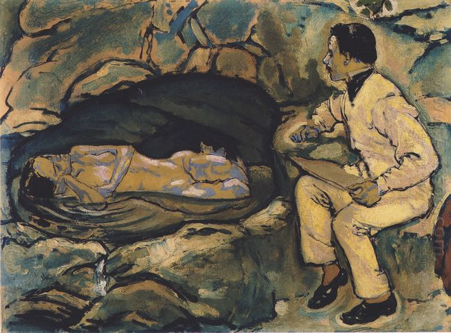 Self Portrait With Mermaid 1914