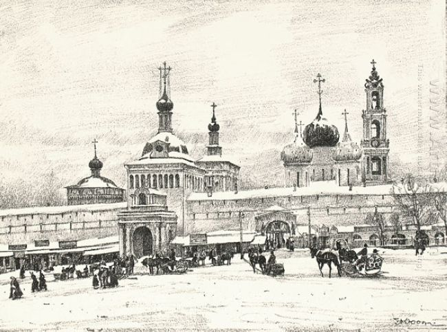 Sergiyev Posad Near The Monastery S Gates 1923