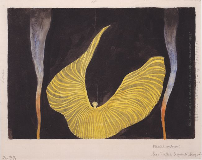 Serpentine Dancer Poster Design For Lois Fuller
