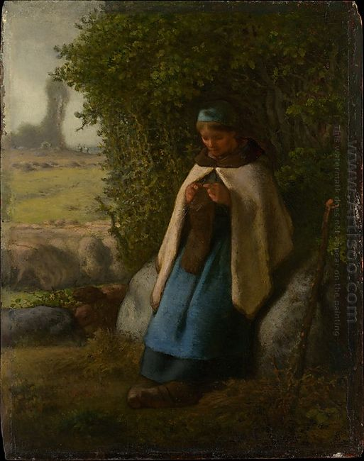 Shepherdess Seated On A Rock 1856