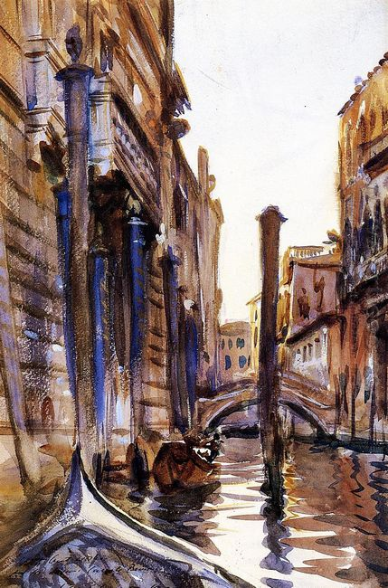 Side Canal In Venice 1902