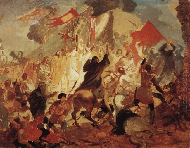 Siege Of Pskov By Polish King Stefan Batory In 1581 1837