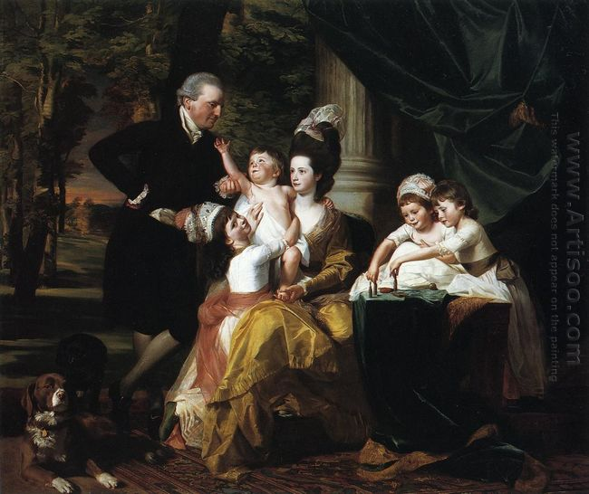 Sir William Pepperrell And Family 1778
