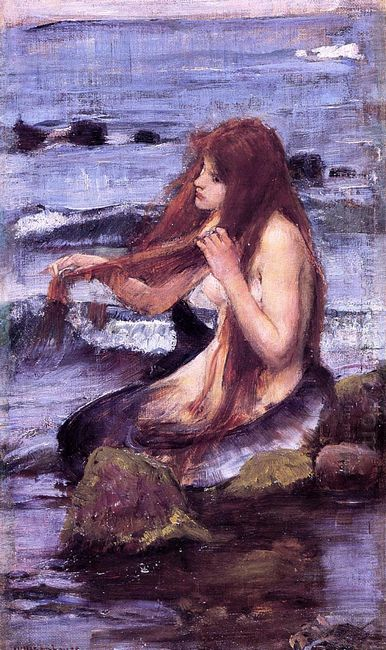 Sketch For A Mermaid 1892