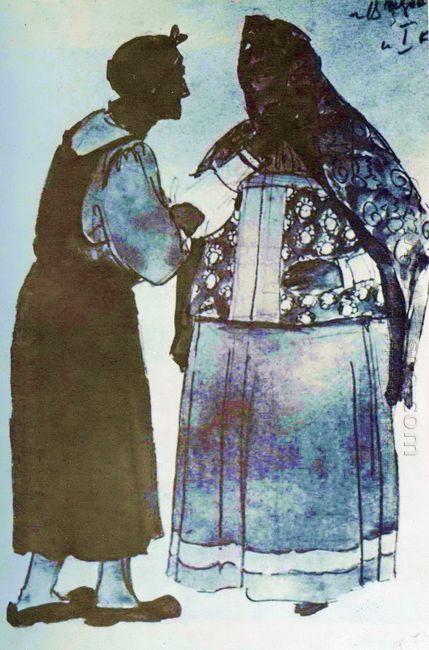 Sketch For Glinka S Opera Ivan Susanin Old Woman In The House Su