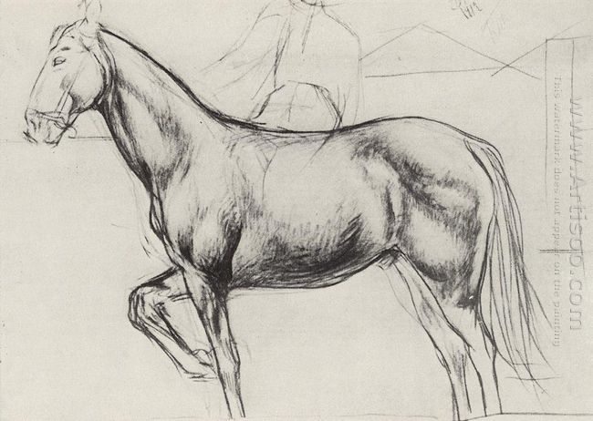 Sketch For The Painting Bathing The Red Horse 1912 1
