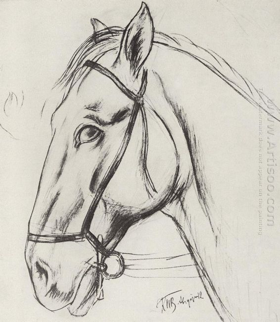 Sketch For The Painting Bathing The Red Horse 1912 2