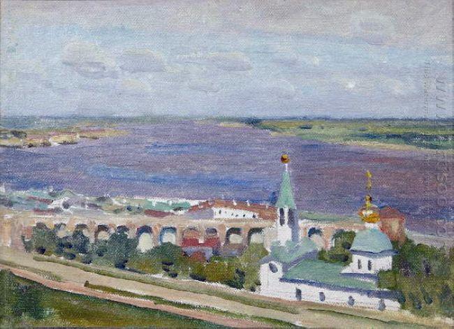 Sketch For The Painting Gorky And Shalyapin In Nizhny Novgorod 1