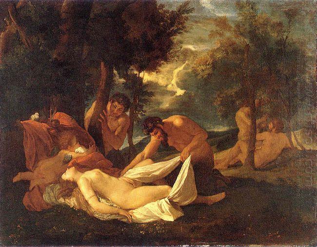 Sleeping Venus Surprised By Satyr 1626