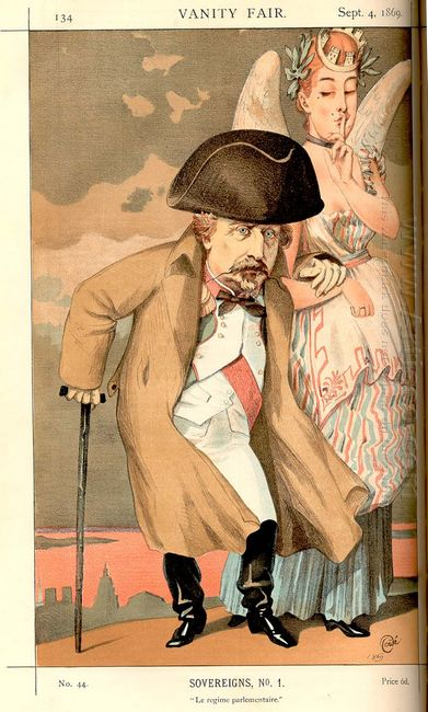 Sovereigns No 10 Caricature Of Napoleon Iii
