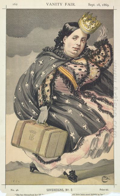 Sovereigns No 20 Caricature Of Isabella Ii Of Spain