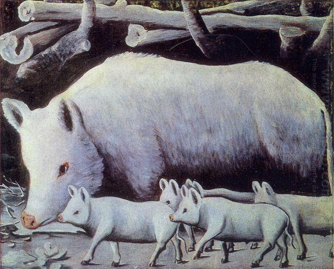 Sow With Piglets