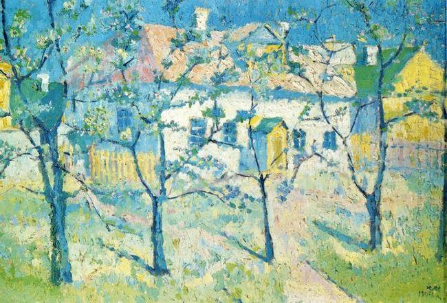 Spring Garden In Blossom 1904