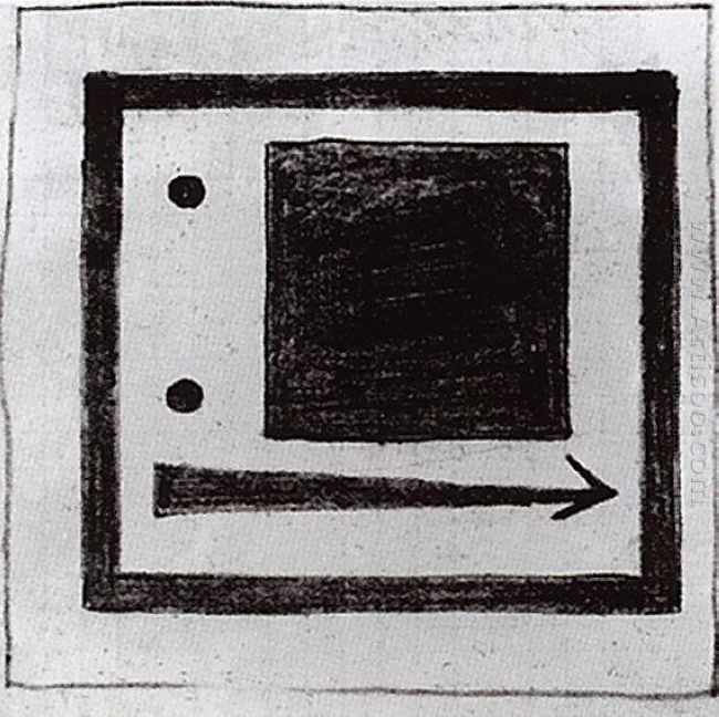 Square Circle And Arrow 1915