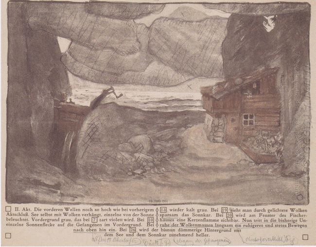 Stage Design For The Lake Of Julius Bittner