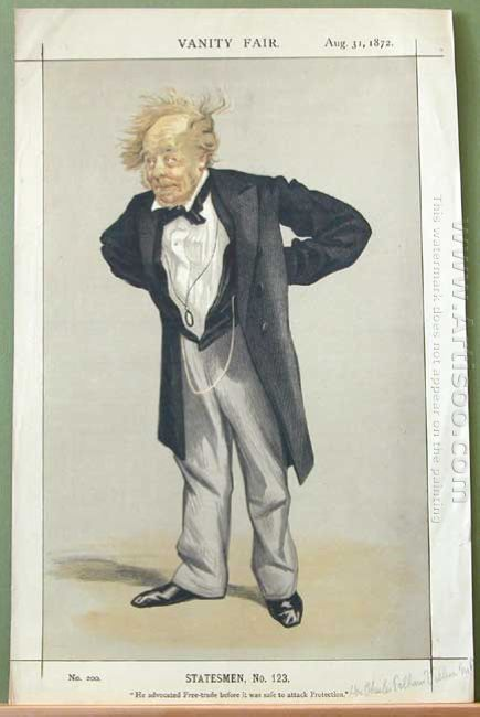 Statesmen No 1230 Caricature Of The Rt Hon Cp Villiers M P