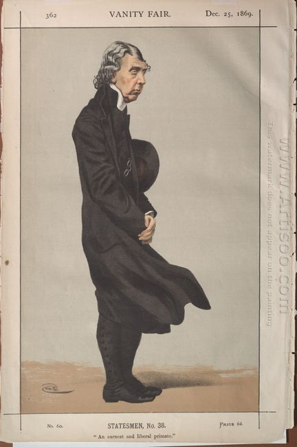 Statesmen No 380 Caricature Of Archibald Campbell Tait Archbisho