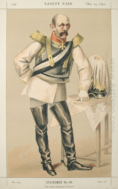 Statesmen No 660 Caricature Of Count Von Bismarck Schoenausen