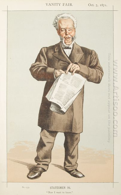 Statesmen No 940 Caricature Of Alderman Andrew Lusk M P