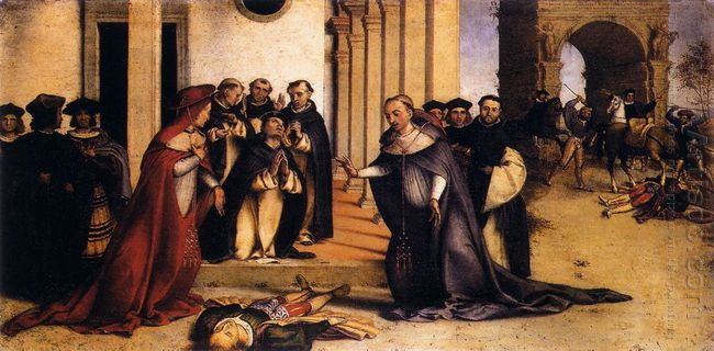 St Dominic Raises Napoleone Orsini 1516