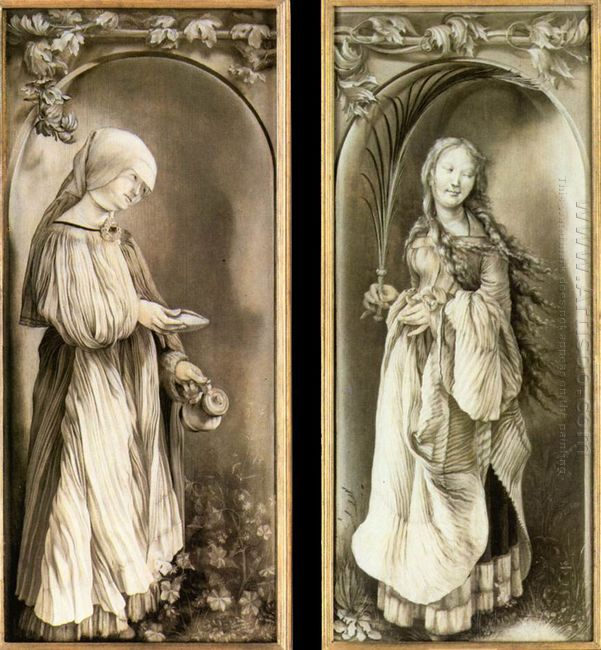 St Elizabeth And A Saint Woman With Palm 1511