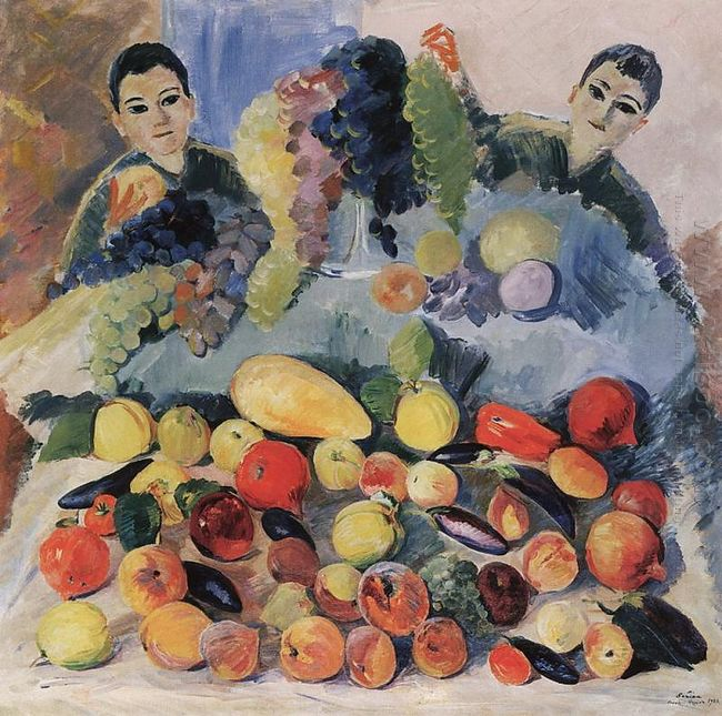 Still Life And Children 1928