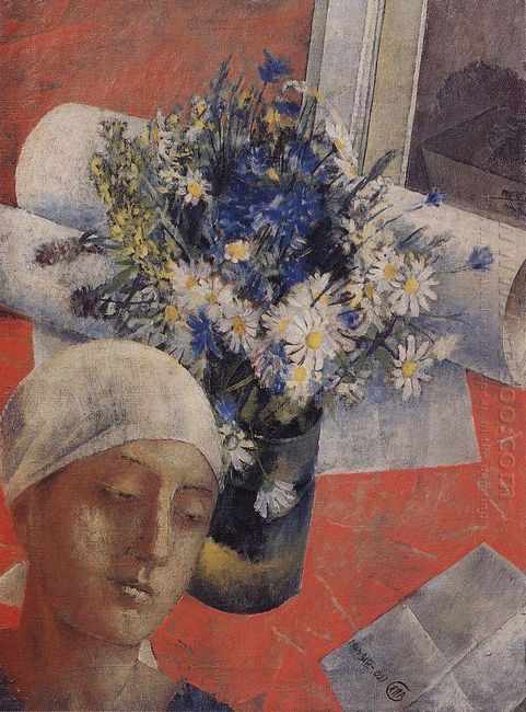 Still Life With A Female Head 1921
