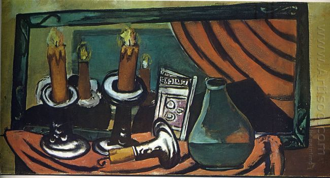 Still Life With Candles And Mirror 1930