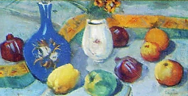 Still Life With Jug And Fruit 1913